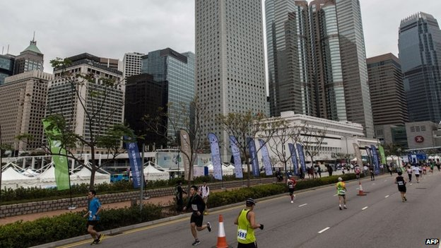 Hundreds of runners have competed in Hong Kong's first inner-city ultramarathon