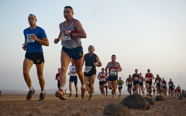 Runner's Ultramarathon in Sahara Desert